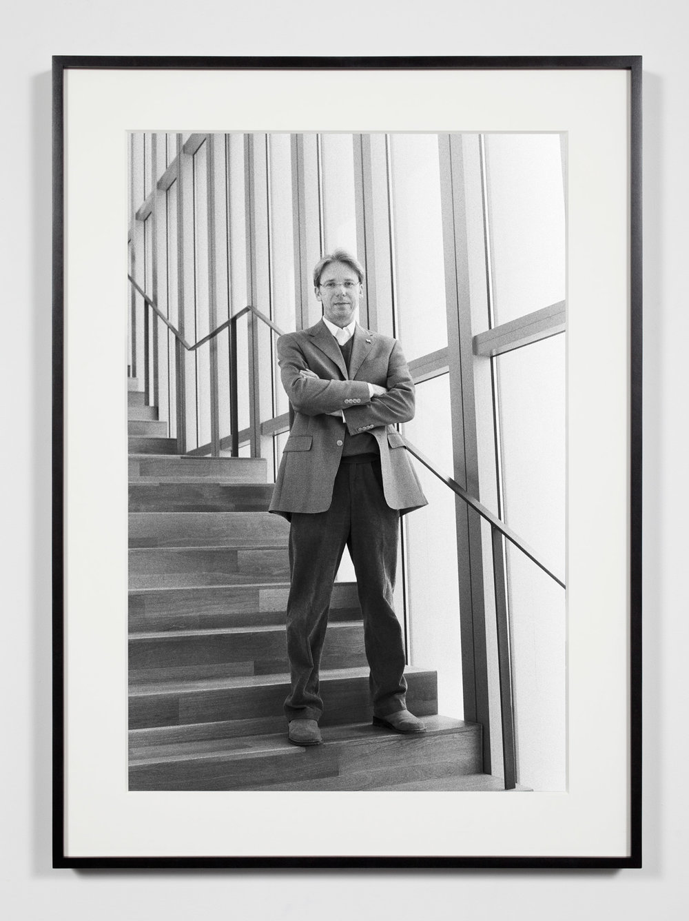 University Museum Director, Ann Arbor, Michigan, March 28, 2009   2011  Epson Ultrachrome K3 archival ink jet print on Hahnemühle Photo Rag paper  36 3/8 x 26 3/8 inches   Industrial Portraits, 2008–    A Diagram of Forces, 2011