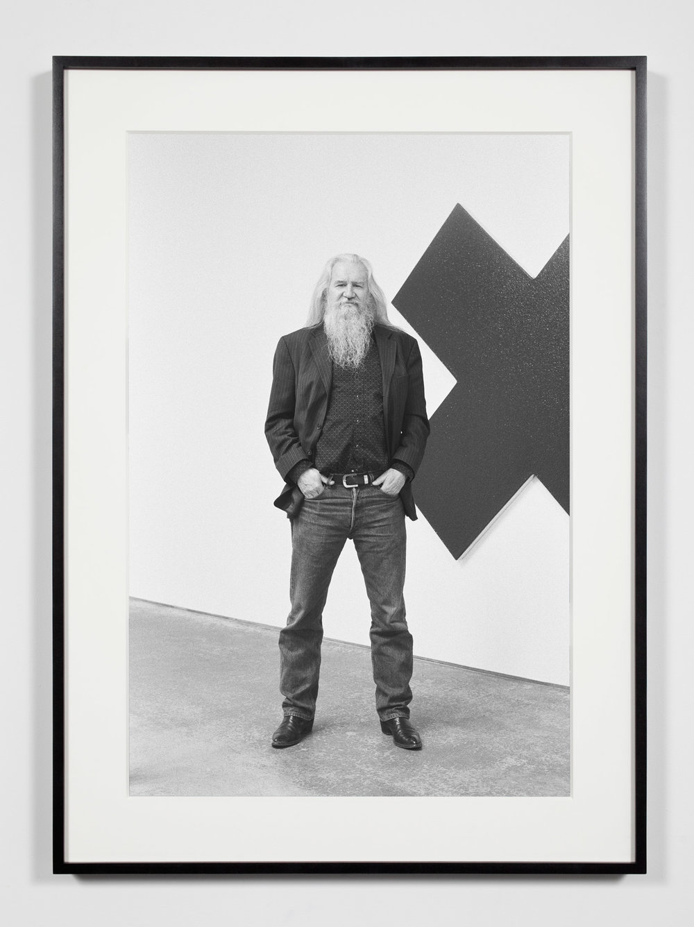 Artist, Santa Monica, California, April 11, 2009   2011  Epson Ultrachrome K3 archival ink jet print on Hahnemühle Photo Rag paper  36 3/8 x 26 3/8 inches   Industrial Portraits, 2008–    A Diagram of Forces, 2011