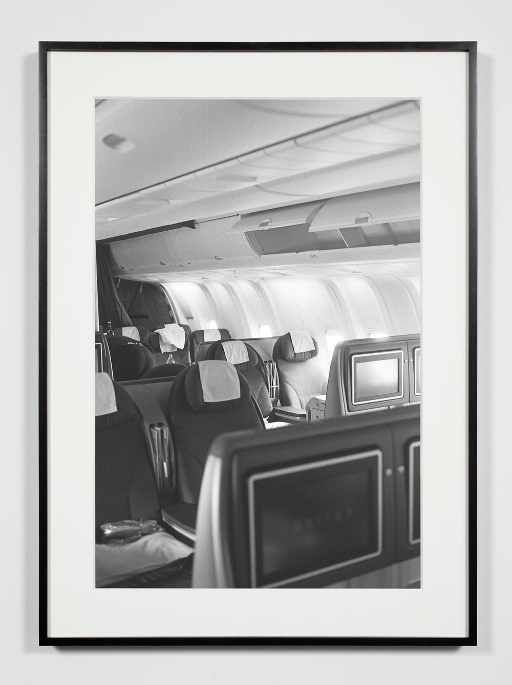 Business Class Cabin, Moscow, Russia, May 17, 2009    2011   Epson Ultrachrome K3 archival ink jet print on Hahnemühle Photo Rag paper  36 3/8 x 26 3/8 inches   A Diagram of Forces, 2011