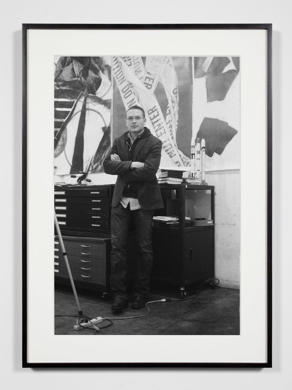 Artist, Los Angeles, California, February 8, 2009   2011  Epson Ultrachrome K3 archival ink jet print on Hahnemühle Photo Rag paper  36 3/8 x 26 3/8 inches   Industrial Portraits, 2008–    A Diagram of Forces, 2011
