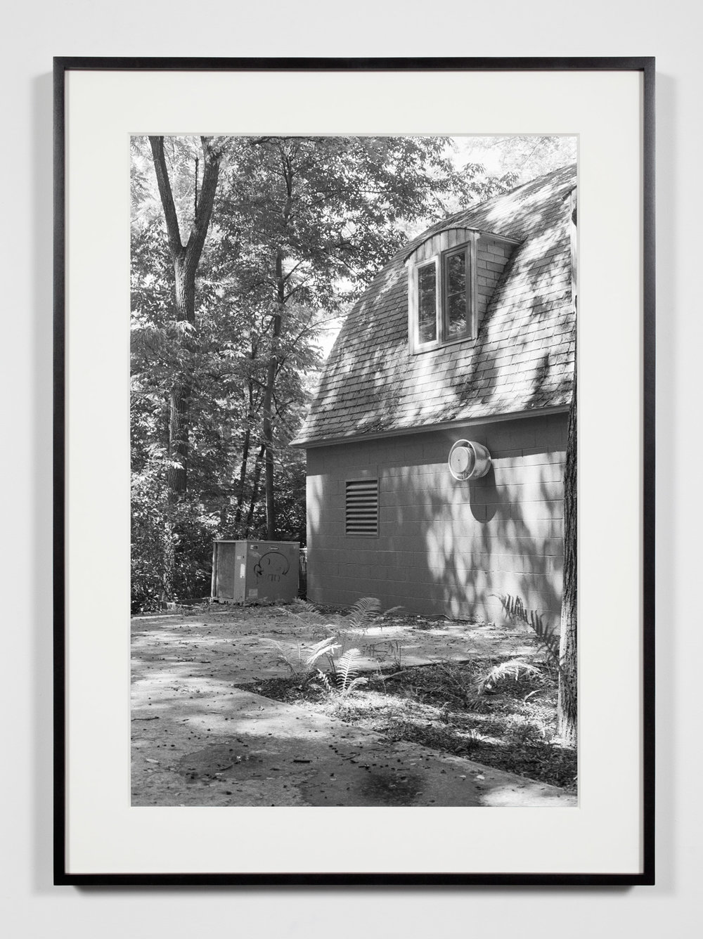 College Darkroom Building, Annandale-on-Hudson, New York, July 11, 2009    2011   Epson Ultrachrome K3 archival ink jet print on Hahnemühle Photo Rag paper  36 3/8 x 26 3/8 inches   A Diagram of Forces, 2011