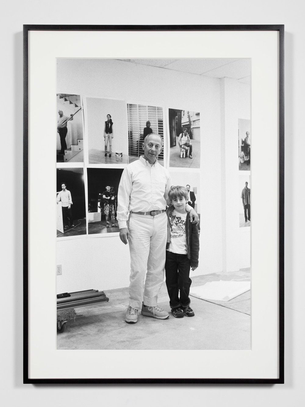Publisher with Son, Los Angeles, California, April 3, 2009   2011  Epson Ultrachrome K3 archival ink jet print on Hahnemühle Photo Rag paper  36 3/8 x 26 3/8 inches   Industrial Portraits, 2008–    A Diagram of Forces, 2011
