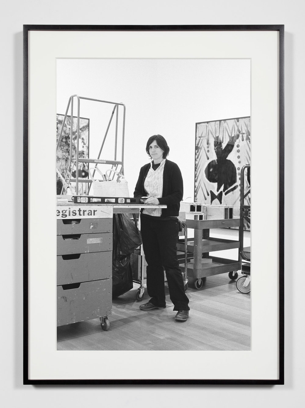 Museum Preparator, New York, New York, September 26, 2009   2011  Epson Ultrachrome K3 archival ink jet print on Hahnemühle Photo Rag paper  36 3/8 x 26 3/8 inches   Industrial Portraits, 2008–    A Diagram of Forces, 2011