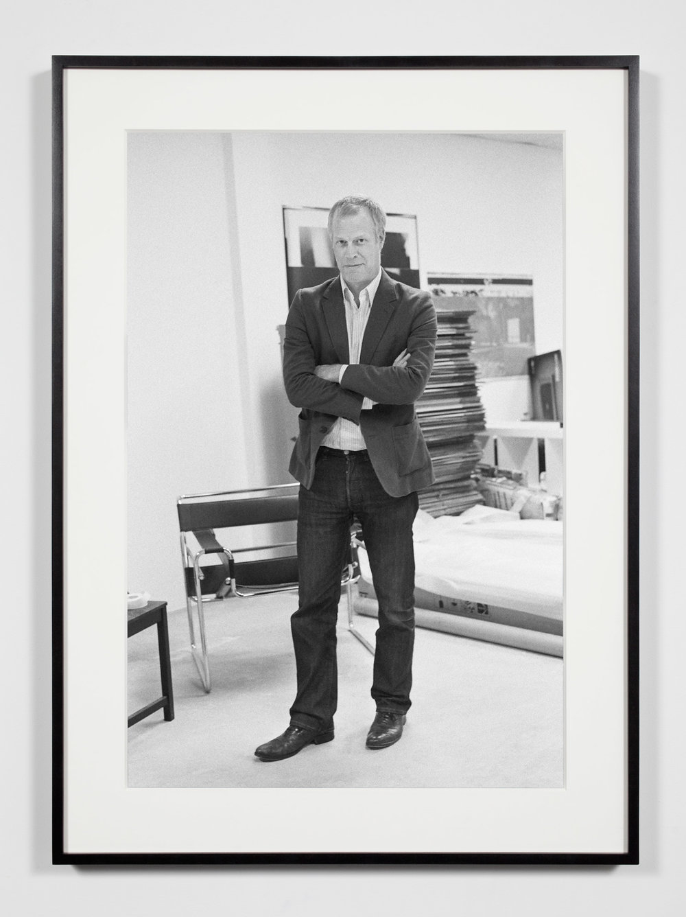 Art Fair Director, Los Angeles, California, July 20, 2008   2011  Epson Ultrachrome K3 archival ink jet print on Hahnemühle Photo Rag paper  36 3/8 x 26 3/8 inches   Industrial Portraits, 2008–    A Diagram of Forces, 2011