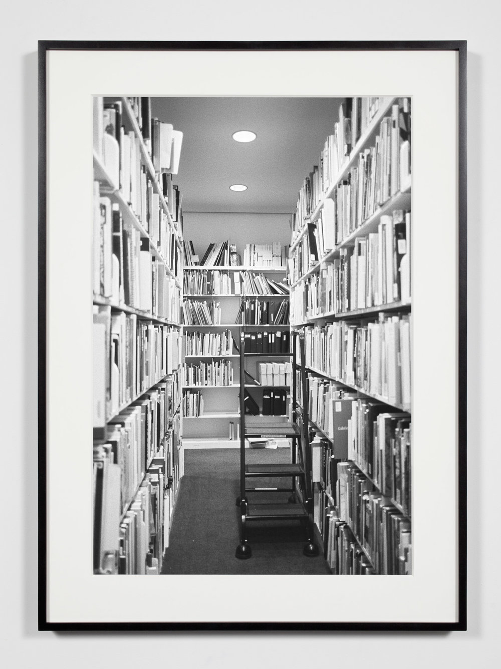 Museum Library Stacks, Washington, District of Columbia, August 18, 2008    2011   Epson Ultrachrome K3 archival ink jet print on Hahnemühle Photo Rag paper  36 3/8 x 26 3/8 inches   A Diagram of Forces, 2011