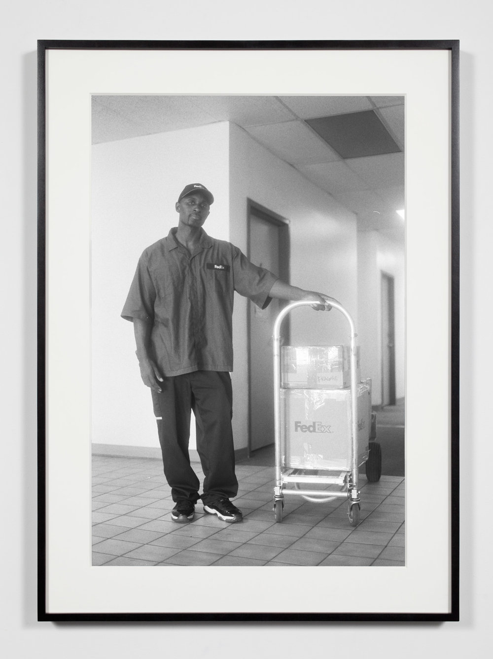 FedEx Courier, Los Angeles, California, September 12, 2008   2011  Epson Ultrachrome K3 archival ink jet print on Hahnemühle Photo Rag paper  36 3/8 x 26 3/8 inches   Industrial Portraits, 2008–    A Diagram of Forces, 2011
