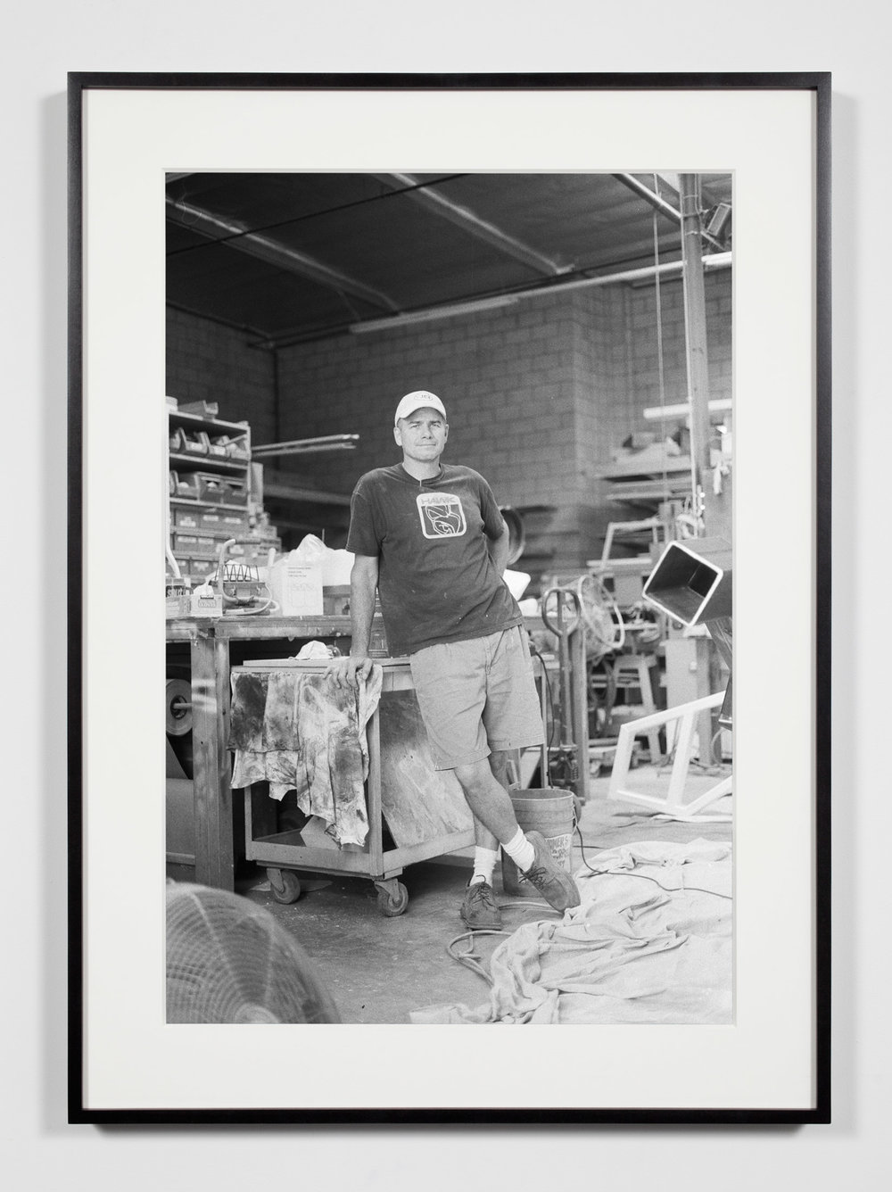 Fabricator, Glendale, California, July 9, 2008   2011  Epson Ultrachrome K3 archival ink jet print on Hahnemühle Photo Rag paper  36 3/8 x 26 3/8 inches   Industrial Portraits, 2008–    A Diagram of Forces, 2011