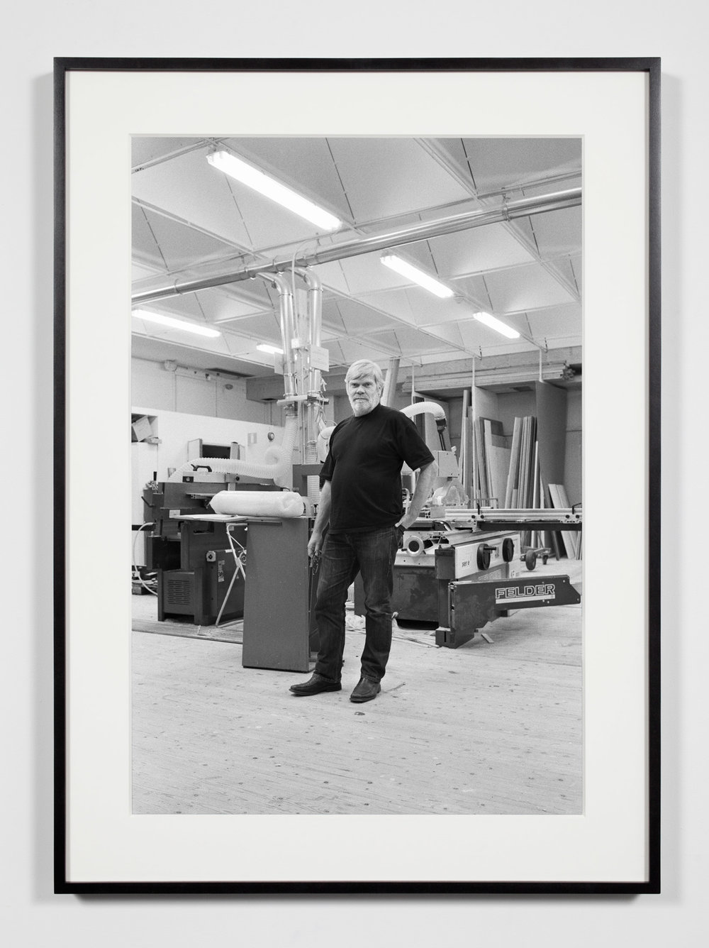 Kunsthalle Chief Technician, Malmö, Sweden, October 16, 2010   2011  Epson Ultrachrome K3 archival ink jet print on Hahnemühle Photo Rag paper  36 3/8 x 26 3/8 inches   Industrial Portraits, 2008–    A Diagram of Forces, 2011