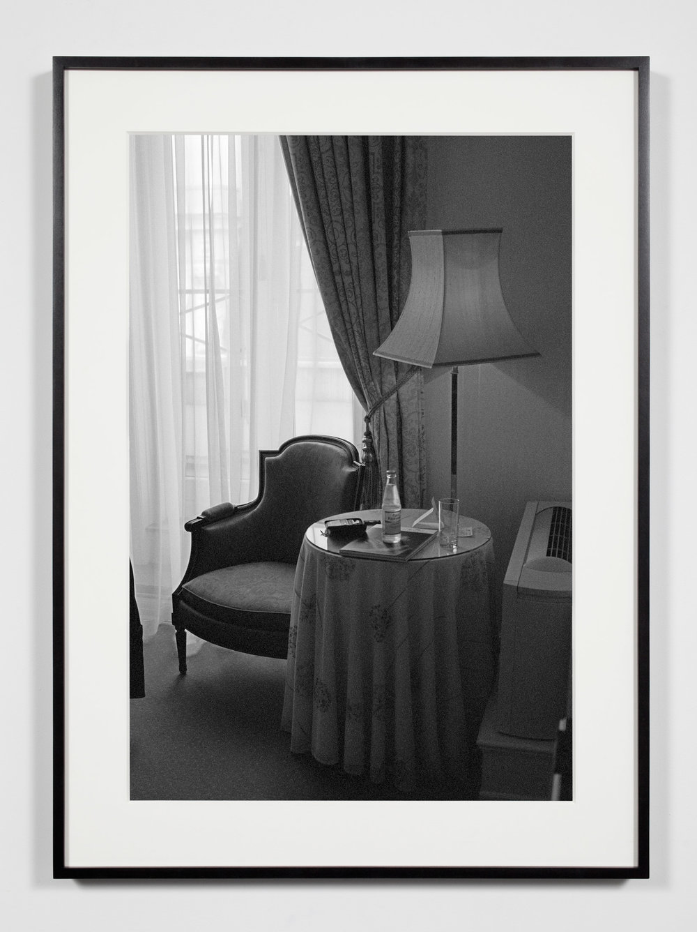 Hotel Room, Copenhagen, Denmark, May 15, 2010   2011  Epson Ultrachrome K3 archival ink jet print on Hahnemühle Photo Rag paper  36 3/8 x 26 3/8 inches   Industrial Portraits, 2008–    A Diagram of Forces, 2011