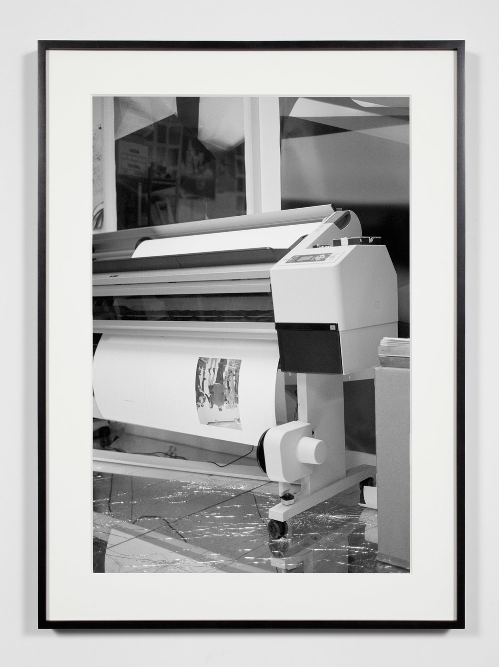Artist Studio, Wide-Format Inkjet Printer, Los Angeles, California, December 9, 2010   2011  Epson Ultrachrome K3 archival ink jet print on Hahnemühle Photo Rag paper  36 3/8 x 26 3/8 inches   Industrial Portraits, 2008–    A Diagram of Forces, 2011