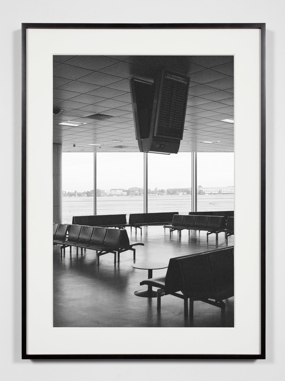 Airport Lounge, Belfast, Ireland, September 10, 2010    2011   Epson Ultrachrome K3 archival ink jet print on Hahnemühle Photo Rag paper  36 3/8 x 26 3/8 inches   A Diagram of Forces, 2011