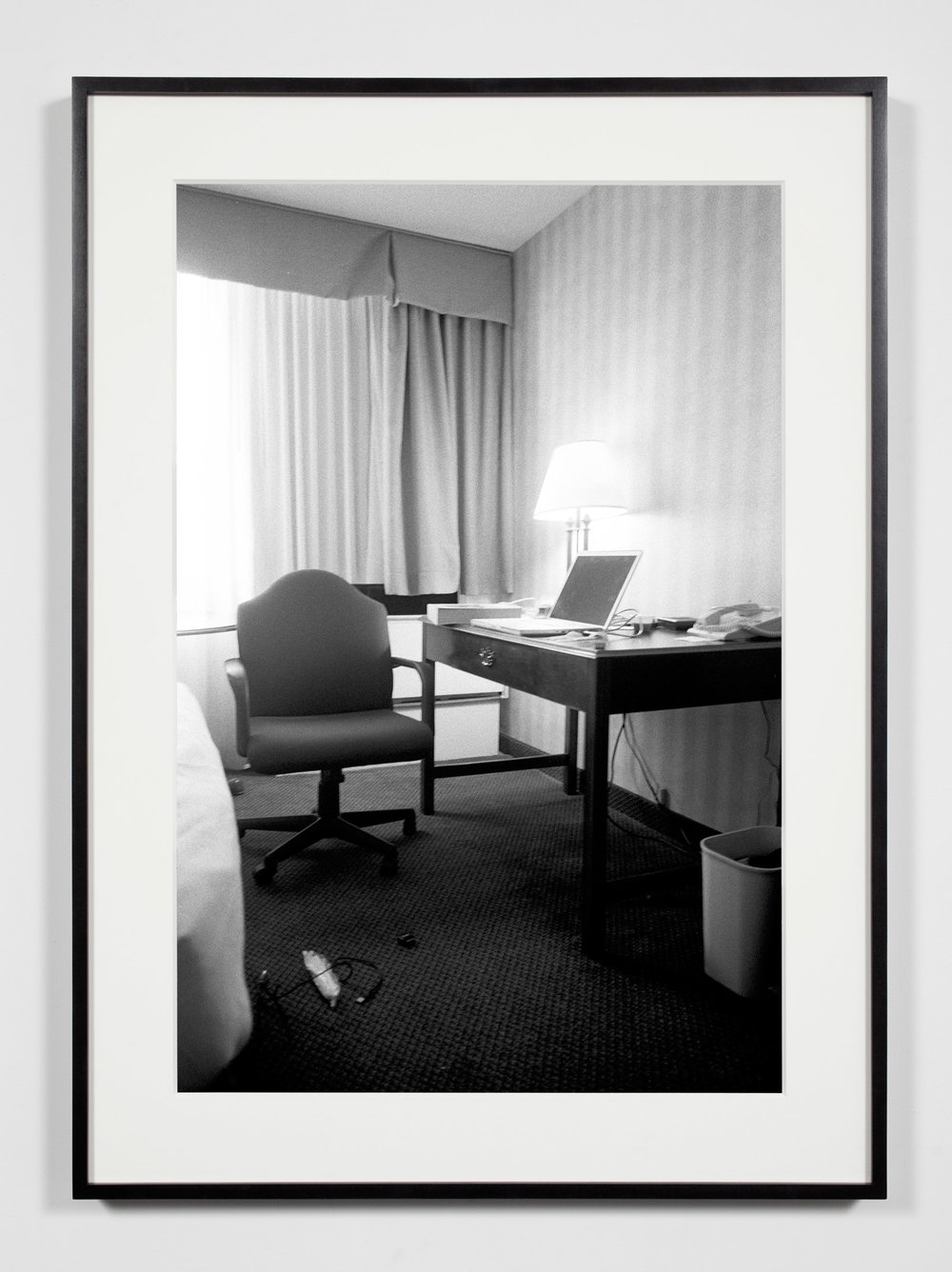Hotel Room, Washington, District of Columbia, April 24, 2009   2011  Epson Ultrachrome K3 archival ink jet print on Hahnemühle Photo Rag paper  36 3/8 x 26 3/8 inches   Industrial Portraits, 2008–    A Diagram of Forces, 2011