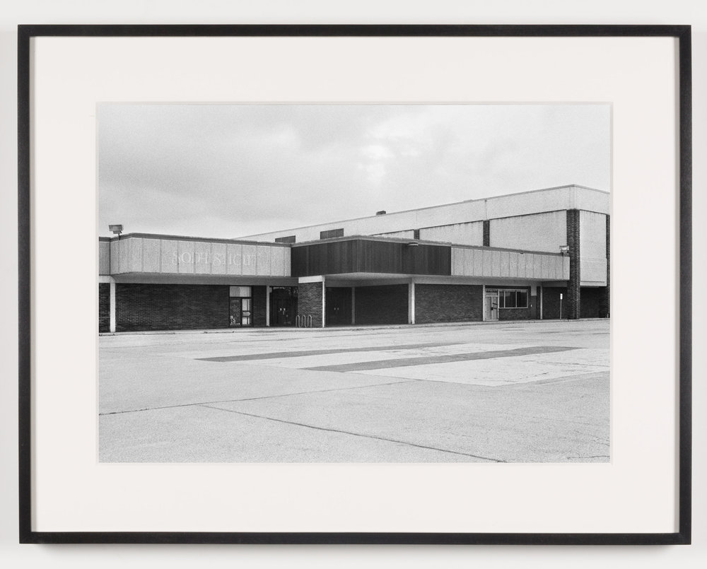 Southwyck Mall ('Sophisticut'), Toledo, OH, Est. 1972, Demo. 2009   2011  Epson Ultrachrome K3 archival ink jet print on Hahnemühle Photo Rag paper  21 5/8 x 28 1/8 inches   American Passages, 2001–2011    A Diagram of Forces, 2011