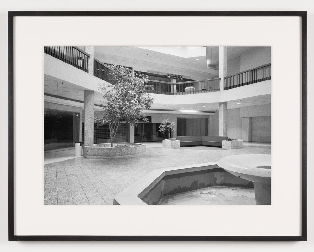 Randall Park Mall (View of Fountain, Seating Area), North Randall, OH, Est. 1976, Demo. 2014   2011  Epson Ultrachrome K3 archival ink jet print on Hahnemühle Photo Rag paper  21 5/8 x 28 1/8 inches   American Passages, 2001–2011    A Diagram of Forces, 2011