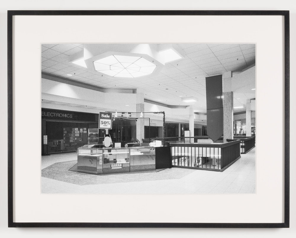 Randall Park Mall ('Electronics') North Randall, OH, Est. 1976, Demo. 2014   2011  Epson Ultrachrome K3 archival ink jet print on Hahnemühle Photo Rag paper  21 5/8 x 28 1/8 inches   American Passages, 2001–2011    A Diagram of Forces, 2011