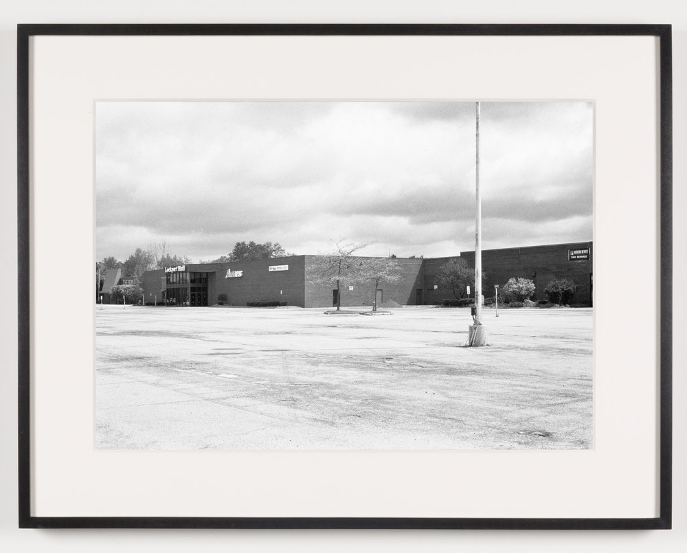 Lockport Mall (View of Exterior), Lockport, NY, Est. 1971, Demo. 2011   2011  Epson Ultrachrome K3 archival ink jet print on Hahnemühle Photo Rag paper  21 5/8 x 28 1/8 inches   American Passages, 2001–2011    A Diagram of Forces, 2011