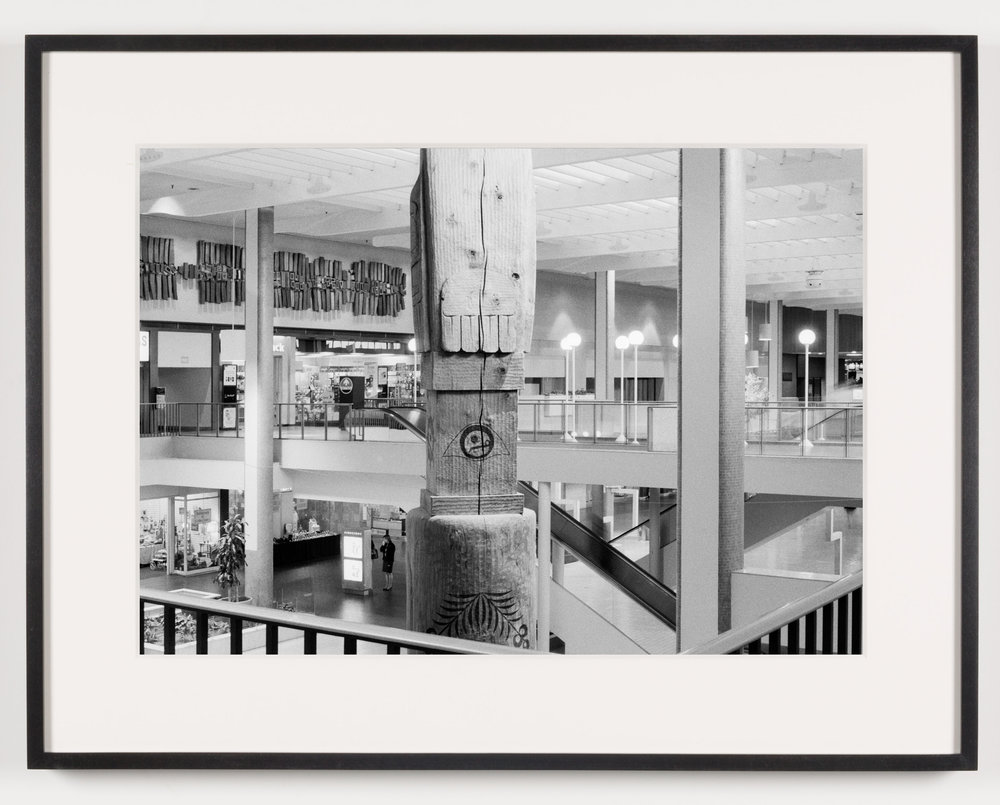 Midtown Plaza (View of Totem Pole, Back), Rochester, NY, Est. 1962, Demo. 2010   2011  Epson Ultrachrome K3 archival ink jet print on Hahnemühle Photo Rag paper  21 5/8 x 28 1/8 inches   American Passages, 2001–2011    A Diagram of Forces, 2011