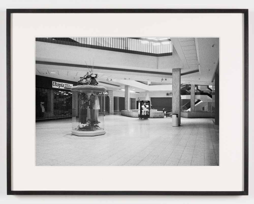 Randall Park Mall ('Utopia Shoes & Accessories,' 'Le Nails,' 'Macy's'), North Randall, OH, Est. 1976, Demo. 2014   2011  Epson Ultrachrome K3 archival ink jet print on Hahnemühle Photo Rag paper  21 5/8 x 28 1/8 inches   American Passages, 2001–2011    A Diagram of Forces, 2011