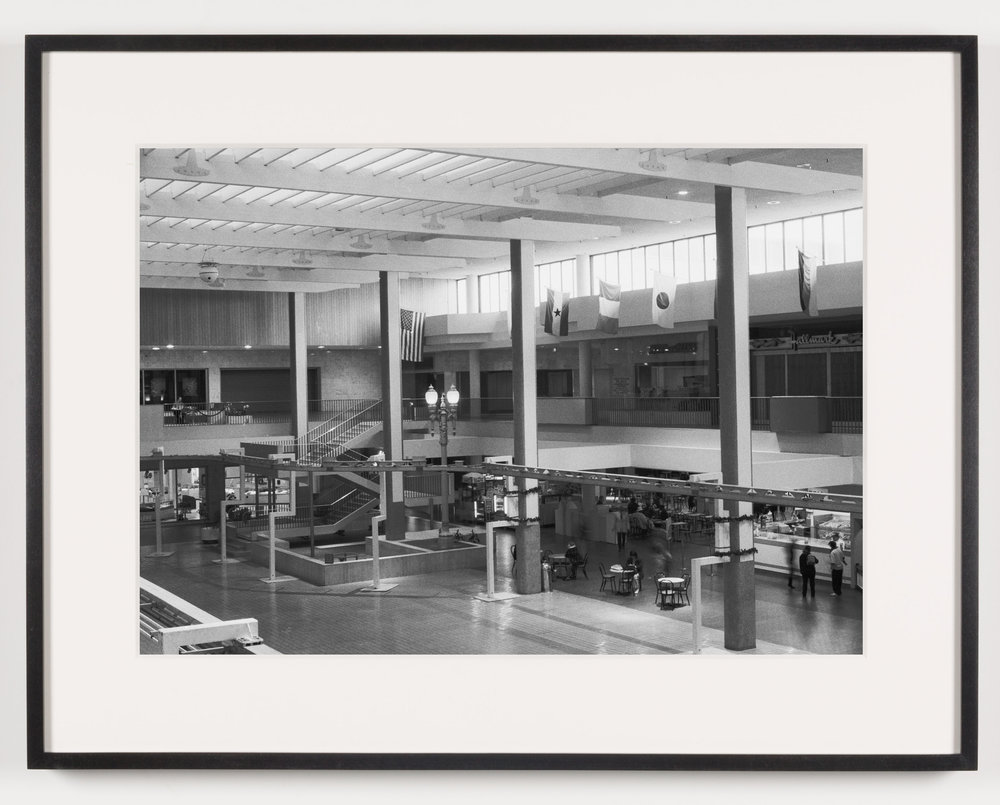 Midtown Plaza (View of Central Plaza Looking South), Rochester, NY. Est. 1962, Demo. 2008   2011  Epson Ultrachrome K3 archival ink jet print on Hahnemühle Photo Rag paper  21 5/8 x 28 1/8 inches   American Passages, 2001–2011    A Diagram of Forces, 2011