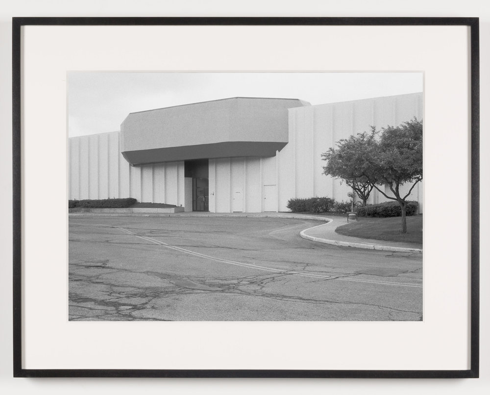 Midway Mall (View of Exterior, 'Sears'), Elyria, OH, Est. 1965   2011  Epson Ultrachrome K3 archival ink jet print on Hahnemühle Photo Rag paper  21 5/8 x 28 1/8 inches   American Passages, 2001–2011    A Diagram of Forces, 2011