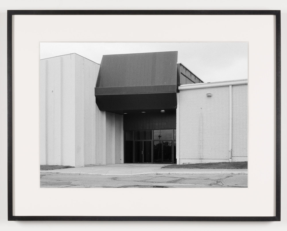 Midway Mall (View of Exterior), Elyria, OH, Est. 1965   2011  Epson Ultrachrome K3 archival ink jet print on Hahnemühle Photo Rag paper  21 5/8 x 28 1/8 inches   American Passages, 2001–2011    A Diagram of Forces, 2011