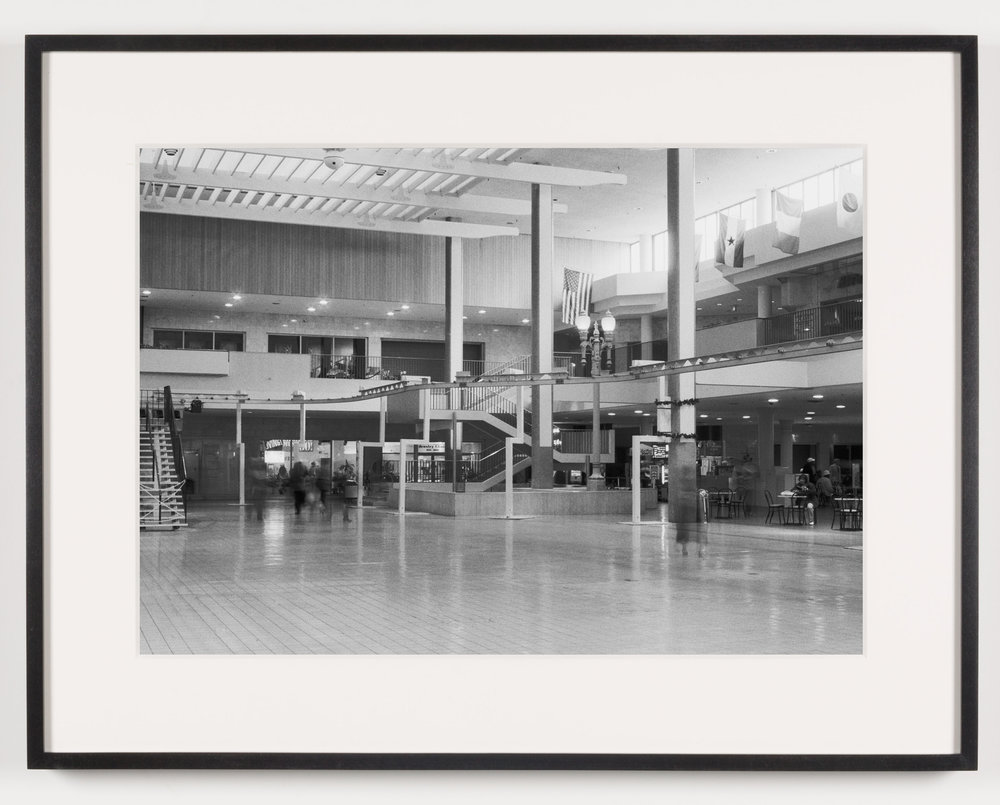 Midtown Plaza (View of Central Plaza Looking South), Rochester, NY. Est. 1962, Demo 2008   2011  Epson Ultrachrome K3 archival ink jet print on Hahnemühle Photo Rag paper  21 5/8 x 28 1/8 inches   American Passages, 2001–2011    A Diagram of Forces, 2011