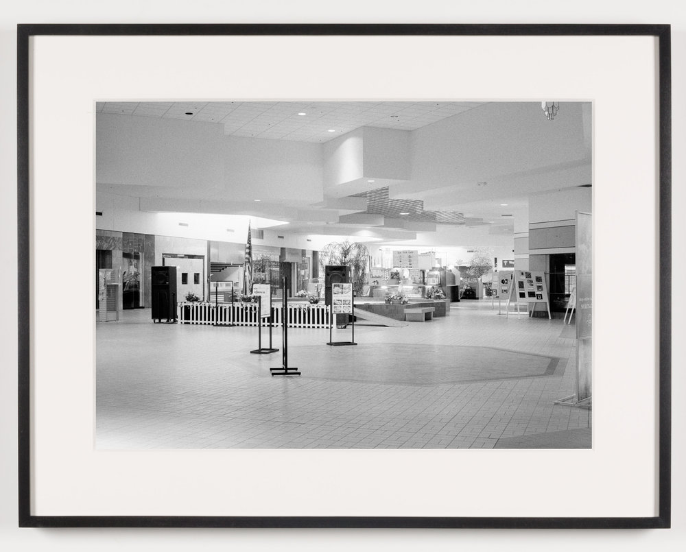 Livonia Mall (View of Community Stage), Livonia, MI. Est. 1964, Demo. 2008   2011  Epson Ultrachrome K3 archival ink jet print on Hahnemühle Photo Rag paper  21 5/8 x 28 1/8 inches   American Passages, 2001–2011    A Diagram of Forces, 2011