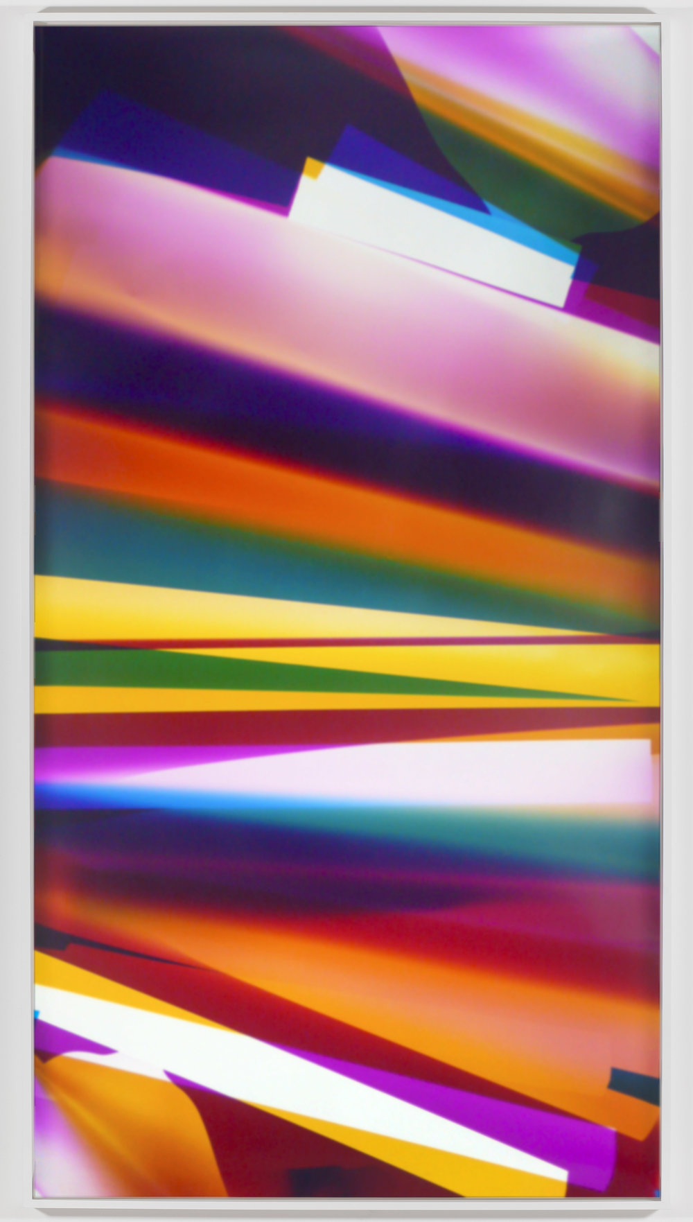 Three Color Curl (CMY: Irvine, California, August 16, 2008, Fuji Crystal Archive Type C)   2009  Color photographic paper  85 x 50 inches   Three-Color Curls, 2008–2013    Popular Mechanics, 2009