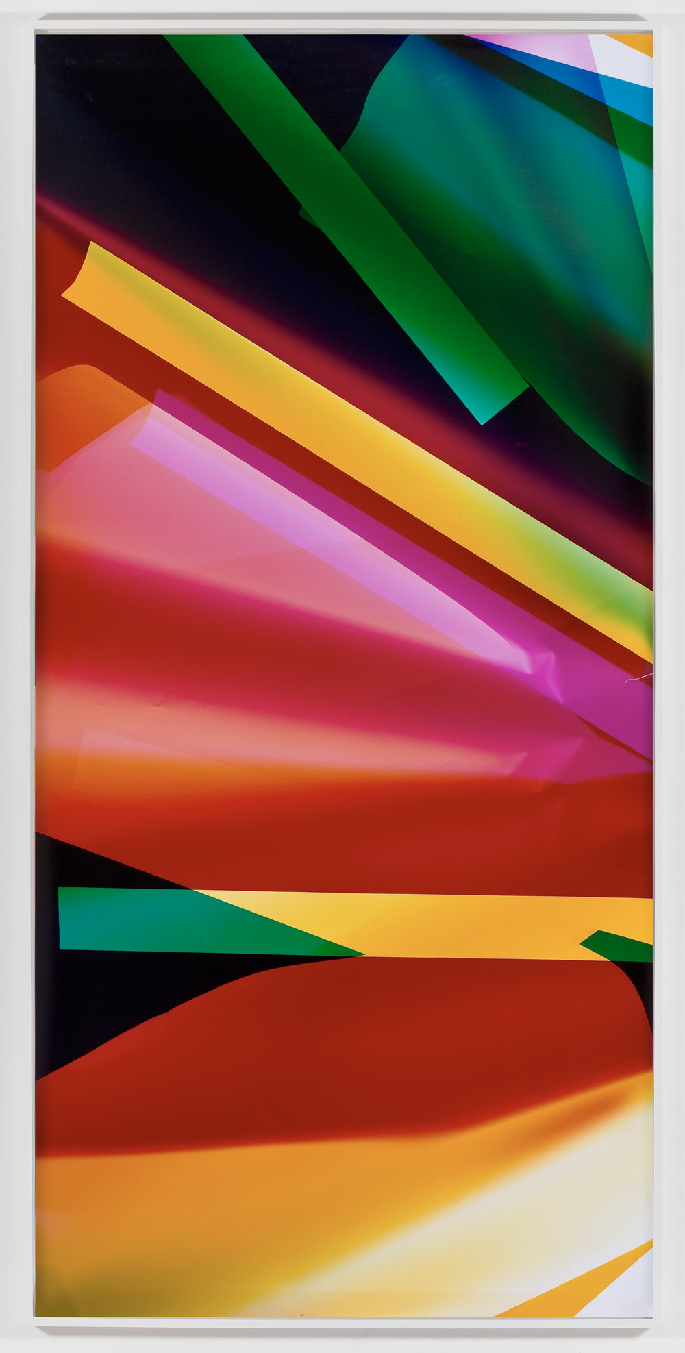 Three Color Curl (CMY: Irvine, California, August 16, 2008, Fuji Crystal Archive Type C)   2009  Color photographic paper  93 x 50 inches   Three-Color Curls, 2008–2013    Popular Mechanics, 2009