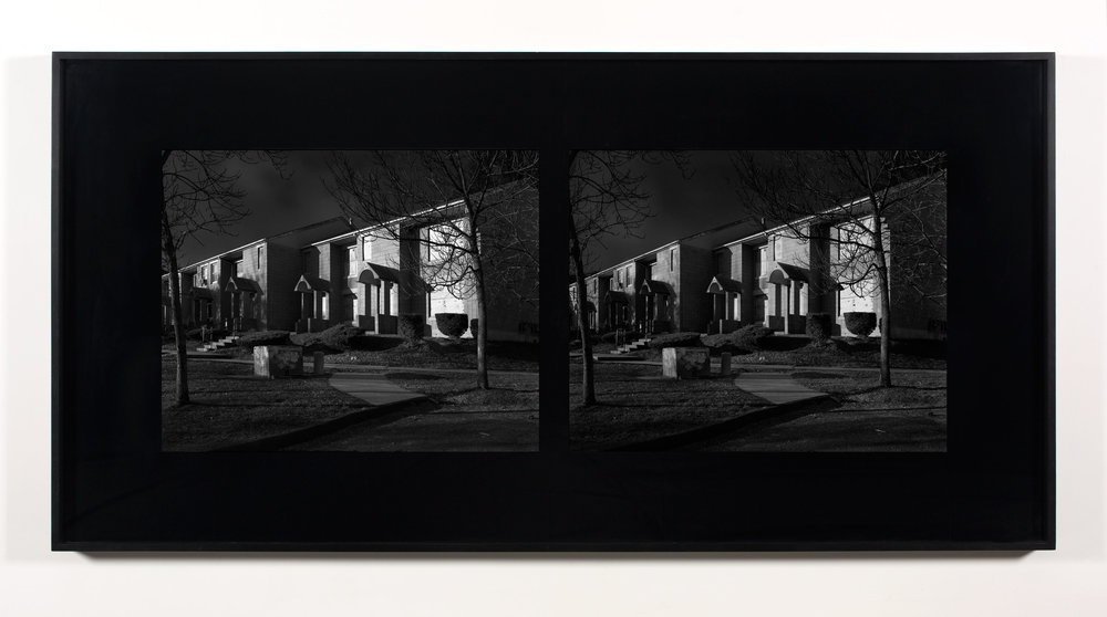 Excursionist Views (Oriental Gardens 1971, rebuilt 1983, street detail)   2001/2005  Chromogenic print  48 x 96 inches   Excursionist Views, 2001/2005