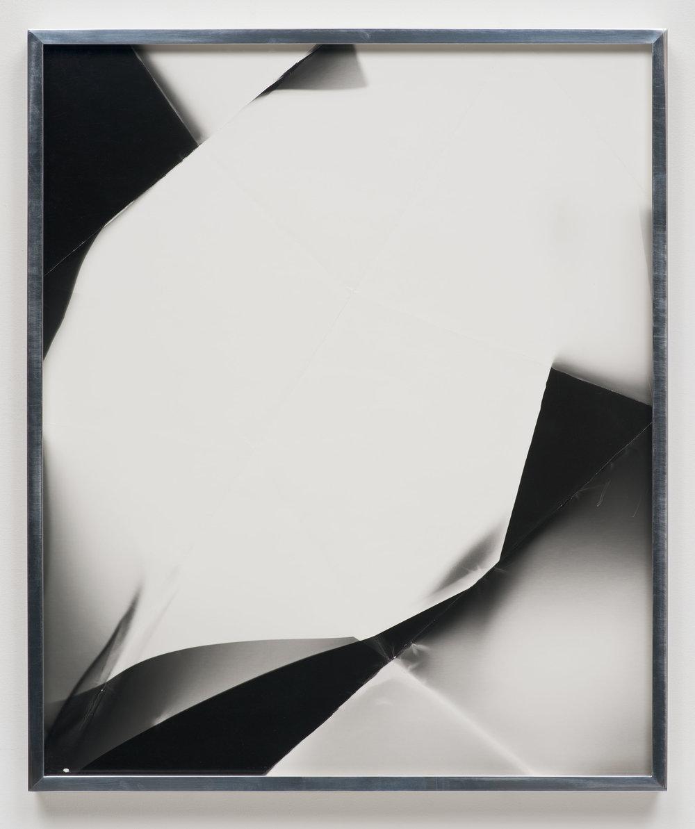 Fold (60º directional light source), March 24, 2007, Valencia, California, Ilford Multigrade Fiber   2007  Black and white fiber based photographic paper  24 x 20 inches   Black and White Directional Folds, 2006–2014