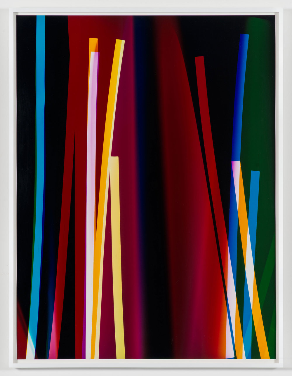 Four Magnet, Three Color Curl (CMY: Irvine, California, September 13, 2009, Fuji Crystal Archive Type C)   2009  Color photographic paper  40 x 30 inches   Three-Color Curls, 2008–2013