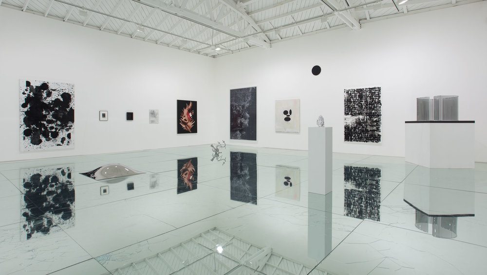 Untitled (Regen Projects, Black Swan: The Exhibition, February 25–April 16, 2011)   2011  Laminated mirror and glass, neoprene  Dimensions variable   Mirrored Floor Work, 2009–