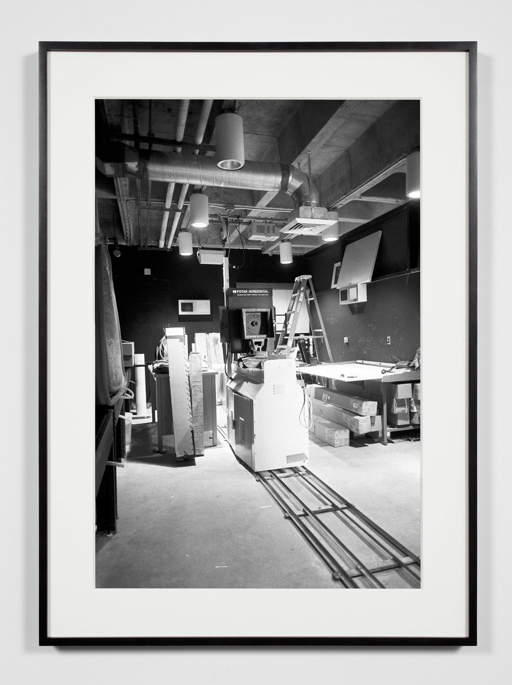 University Darkroom, 8 x 10 Horizontal Enlarger, Irvine, California, July 18, 2008   2011  Epson Ultrachrome K3 archival ink jet print on Hahnemühle Photo Rag paper  36 3/8 x 26 3/8 inches   Industrial Portraits, 2008–    A Diagram of Forces, 2011