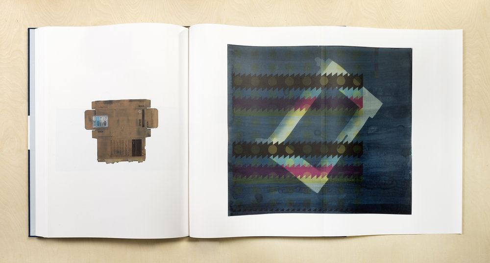 A Partial Disassembling of an Invention Without a Future: Helter-Skelter and Random Notes in Which the Pulleys and Cogwheels Are Lying Around at Random All Over the Workbench (7 October 2013–6 October 2014)   2014  Bound letterpress and digital offset print volumes  27 11/16 x 19 5/8 inches, each