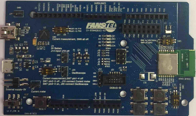 EV-BT840, Evaluation board for BT840 — Fanstel