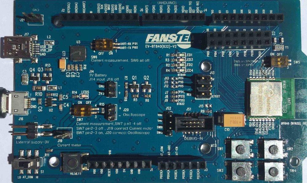 BT832A, nRF52810 Bluetooth 5 module — Fanstel