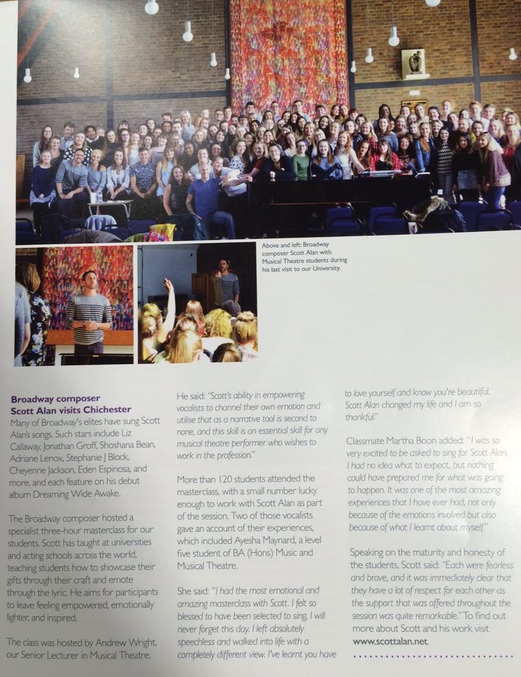 Chichester University: SHOWCASE MAGAZINE