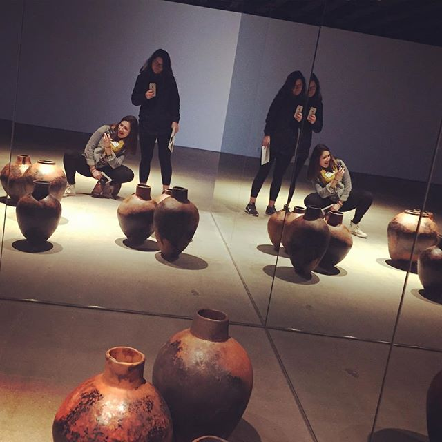 Just chillin with some pots #ceramics #nceca