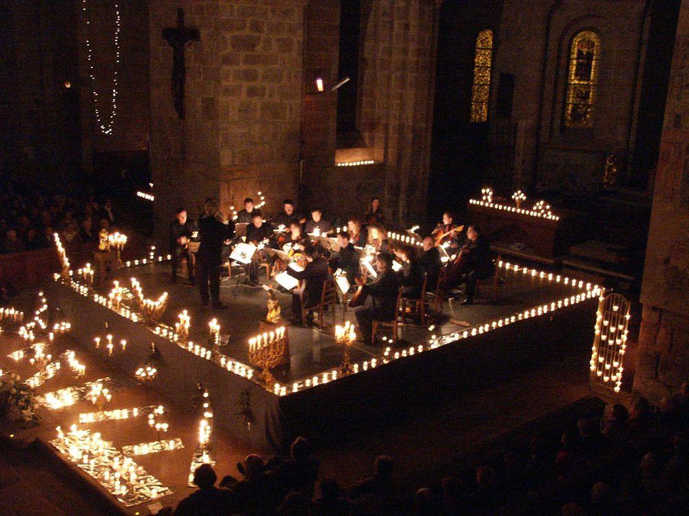 Concert aux chandelles, Abbaye de Solignac