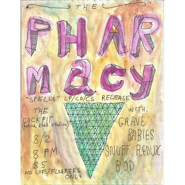 The Pharmacy LP release poster at Cockpit.jpg