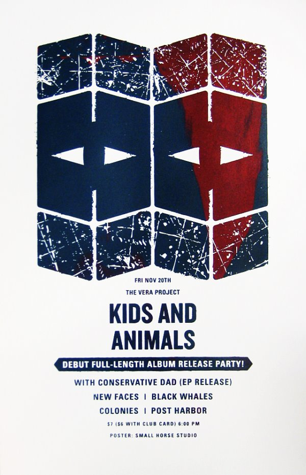 Kids and Animals CD release screen print poster.jpg