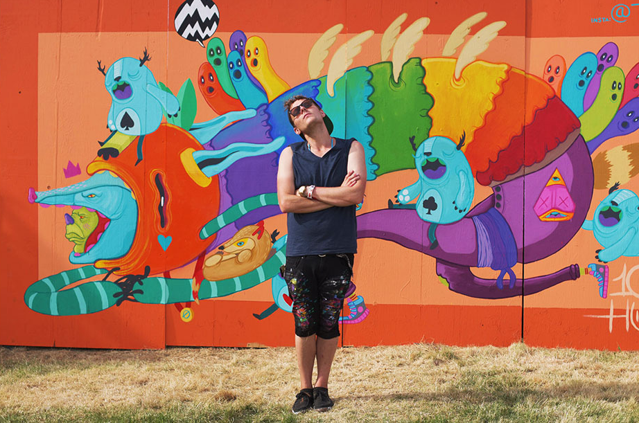 Seattle artist Ten Hundred will be painting live and selling original pieces all day near the Salmon Town Stage!