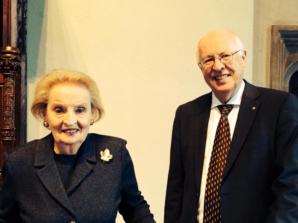 Madeleine Albright with Director John English