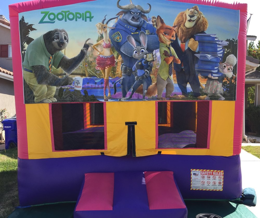 11x11 2in1 Pink and Purple Zootopia Module Combo Jumper