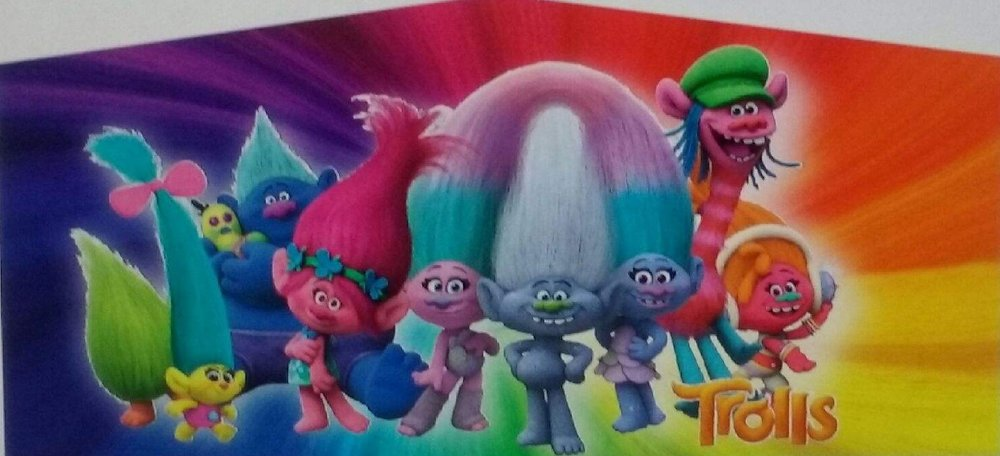 Pink and Purple Trolls Castle Jumper