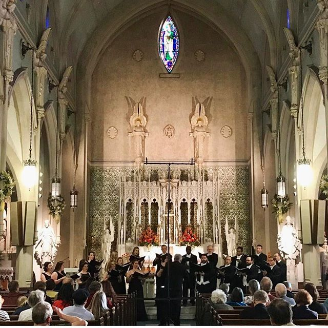 Tonight Lyricora continued their Spring concert series at the Immaculate Conception Church in Portsmouth,NH #choralmusic#choralensemble#concert#reneclausen#olagjeilo#ericwhitacre#lyricora