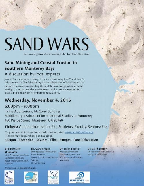 Sand Wars Nov. 4 screening poster