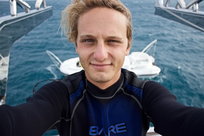 Zack Rago, a reef aquarist and underwater camera technician, stars in Chasing Coral.