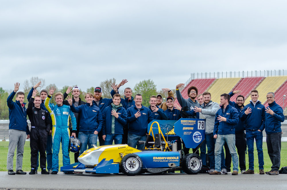 ERAU Motorsports Team at FSAE Michigan 2018